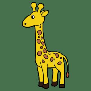 giraffe draw drawing easy easydrawingguides tutorial really drawings giraffes spots brown yellow