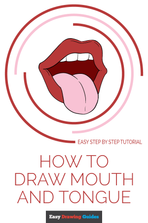 mouth tongue draw drawing easy tutorial step realistic clipartmag really