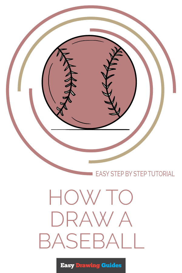 Baseball Drawing Easy : baseball, drawing, Baseball, Really, Drawing, Tutorial