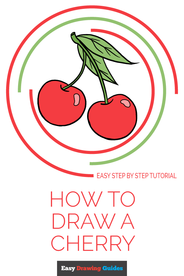 Cherry Drawing Easy : cherry, drawing, Cherries, Really, Drawing, Tutorial