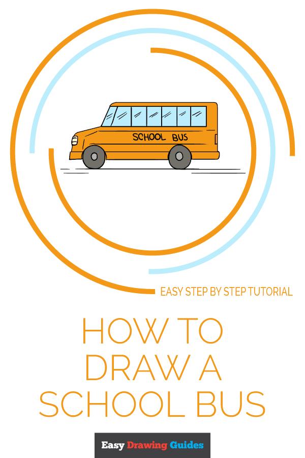 School Bus Drawing : school, drawing, School, Drawing, Tutorial