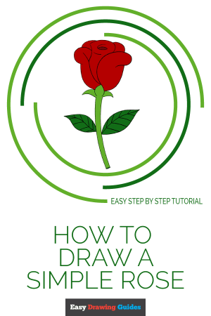 rose easy draw drawing simple step drawings basic tutorial flowers pencil easydrawingguides sketch coloring pages steps clipartmag really trees nature
