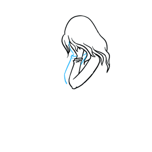crying sad drawing simple tears easy draw tutorial