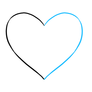 heart broken draw drawing easy drawings pencil shattered line lines curved clipartmag tutorial really step downward allow facing connect mirror
