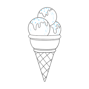 ice cream draw drawing step easy tutorial