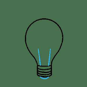 draw bulb drawing easy tutorial lines