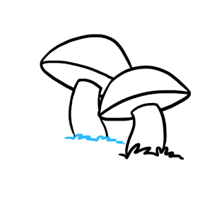 mushroom draw drawing mushrooms easy step line cap curved second lines using beneath connected grass clipartmag grouch oscar easydrawingguides