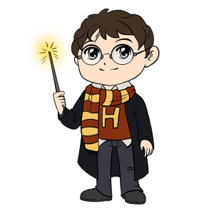 potter harry draw cartoon drawing character easy tutorial really clipartmag