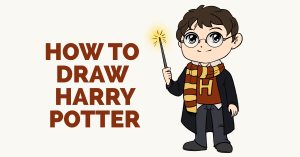 potter harry draw drawing characters character easy tutorials really