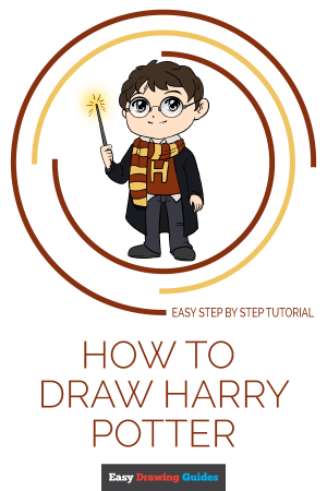 harry potter draw drawing cartoon easy tutorial drawings really save paintingvalley