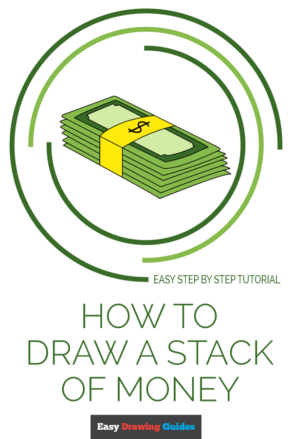 Bank Drawing Easy : drawing, Stack, Money, Really, Drawing, Tutorial
