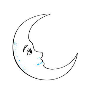 moon crescent draw step drawing easy drawings line dots tutorial cresent texture beginner things nostril represent curved mouth another