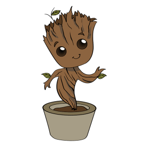 groot draw drawing easy tutorial step easydrawingguides drawings characters comic typically he brown marvel