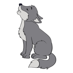 How to Draw a Baby Wolf Really Easy Drawing Tutorial