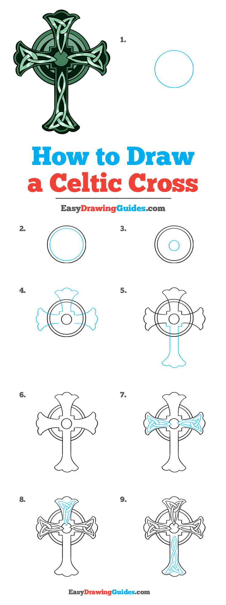 How To Draw A Cross Step By Step : cross, Celtic, Cross, Really, Drawing, Tutorial