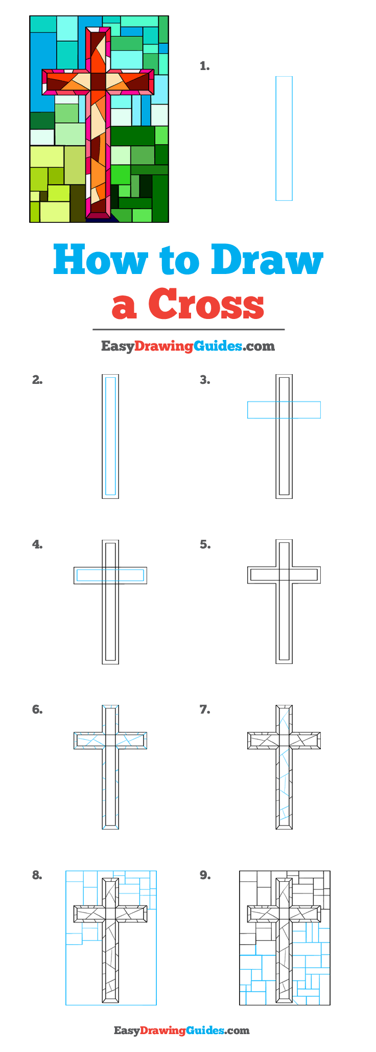 How To Draw A Cross Step By Step : cross, Cross, Really, Drawing, Tutorial