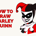 How To Draw Harley Quinn Really Easy Drawing Tutorial