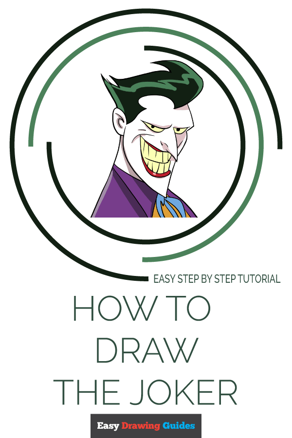 Drawing Joker Cartoon : drawing, joker, cartoon, Joker, Really, Drawing, Tutorial