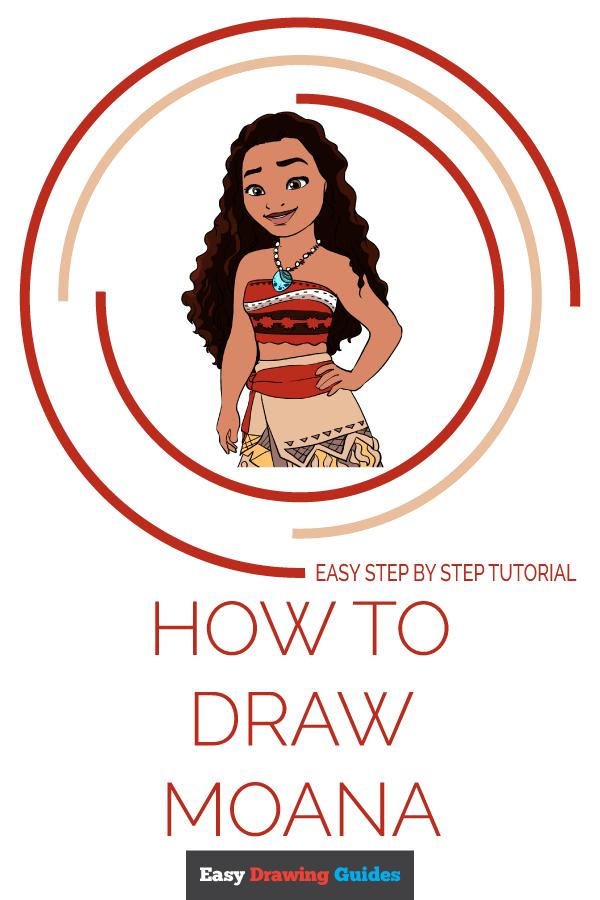 Moana Drawing Easy : moana, drawing, Moana, Really, Drawing, Tutorial
