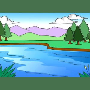 Simple Drawings Lake