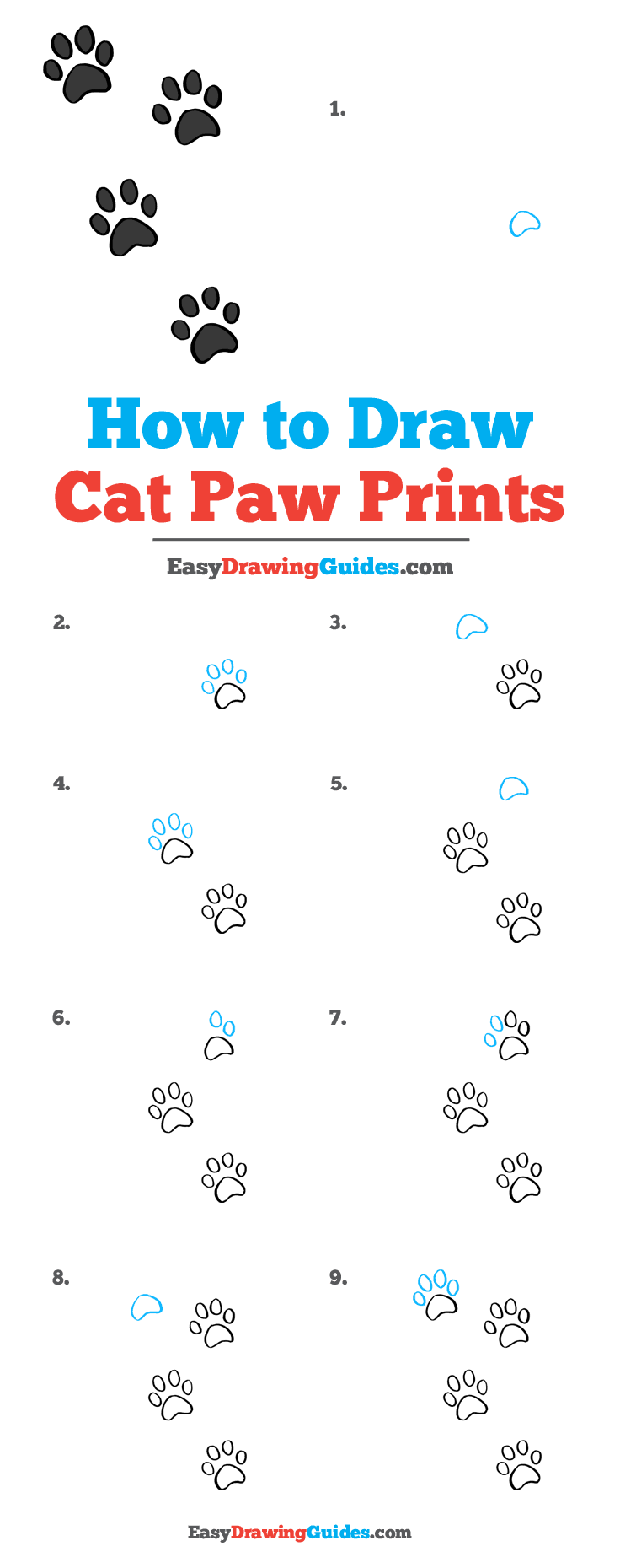 Cute Cat Paw Drawing : drawing, Prints, Really, Drawing, Tutorial