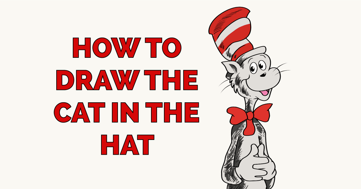 How To Draw The Cat In The Hat Really Easy Drawing Tutorial