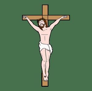 jesus cross draw drawing easy
