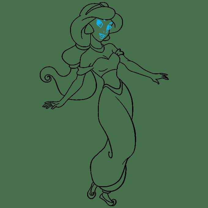 How to Draw Princess Jasmine from Disney's Aladdin