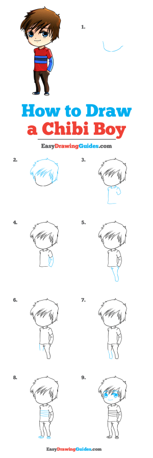 chibi boy draw drawing tutorial easy complete