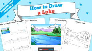 lake drawing printable tutorial draw easy thousands access learn