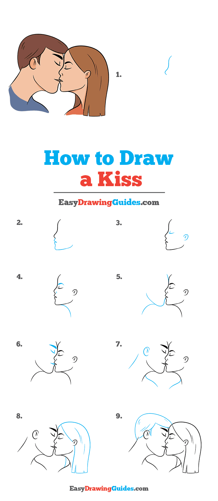 How To Draw Kisses : kisses, Really, Drawing, Tutorial