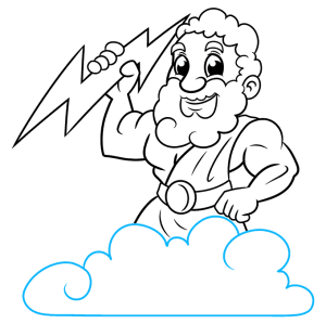 zeus step drawing draw easy tutorial