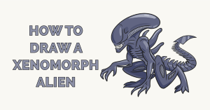 xenomorph alien draw drawing scary easy easydrawingguides tutorials guides featured
