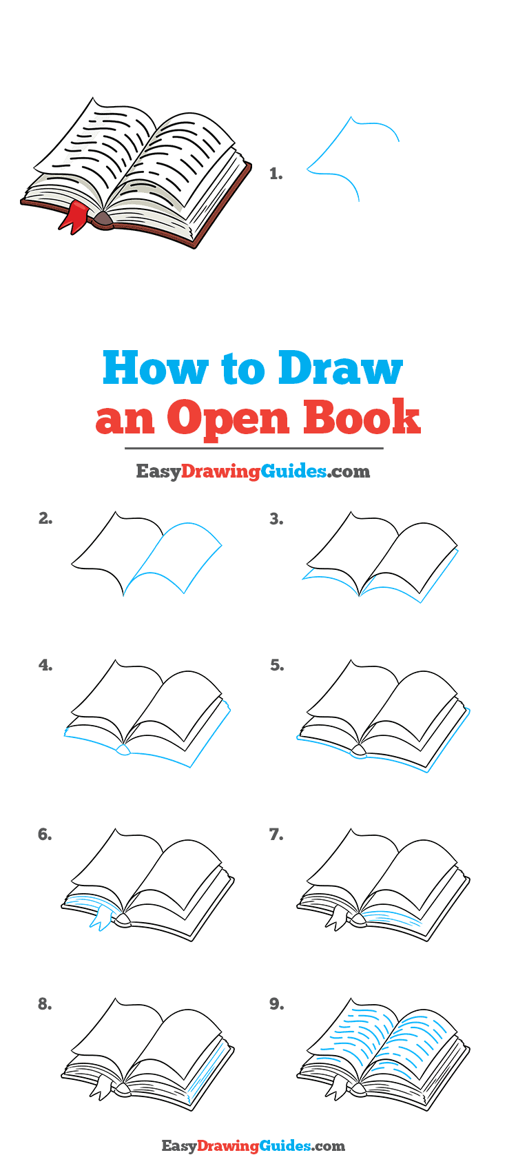 Open Book Drawing Easy : drawing, Really, Drawing, Tutorial