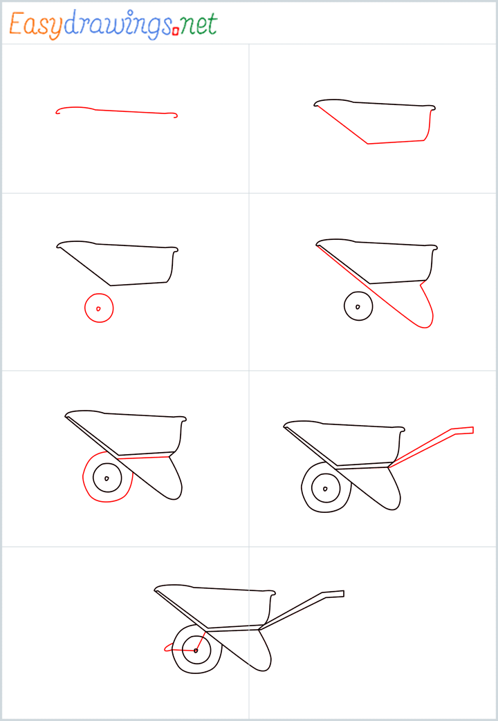 wallpapers How To Draw A Simple Wheelbarrow how to draw a wheelbarrow step by step