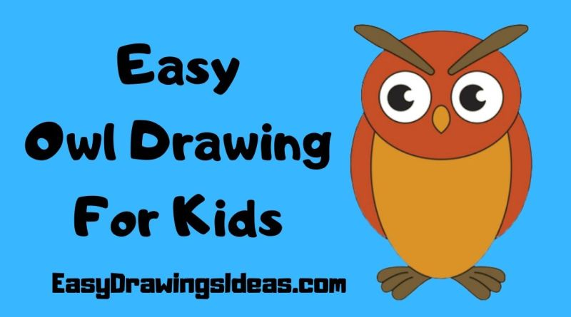 Wise Bird Drawing For Kids Step By Step Easy Drawings Ideas Easy Drawings Ideas