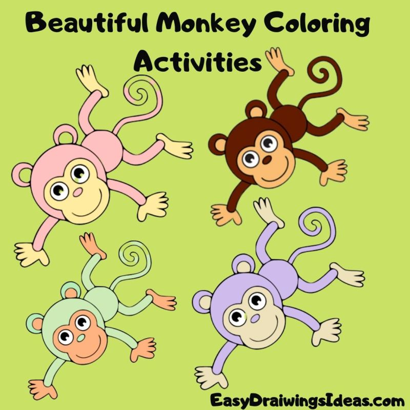 How To Draw A Monkey For Kids Step By Step For Kids -2020 ...