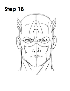 captain america draw drawing step marvel drawings sketches comic venom easy easydrawingtutorials head sketch cartoon comics superheroes character turn superhero