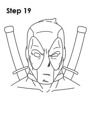 deadpool draw drawing marvel pencil step drawings sketch comics cartoon easydrawingtutorials pen comic spiderman quick desenhos funny superhero