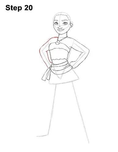 How to Draw Moana