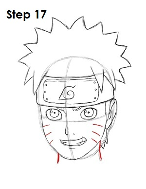 naruto draw easy steps step anime drawing head character side sketch cheeks either lines three neck below easydrawingtutorials manga nice
