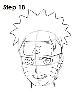 naruto draw easy steps step anime drawing head side heart cheeks either lines three easydrawingtutorials neck below getdrawings outline