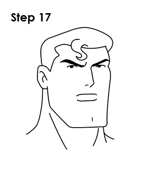 Draw Superman Step 17
