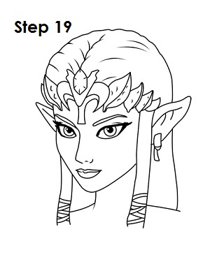 zelda draw step sketch easydrawingtutorials nintendo tutorials