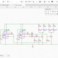 Circuit Diagram Maker Electric Motor Starter Wiring Easyeda Online Pcb Design Simulator