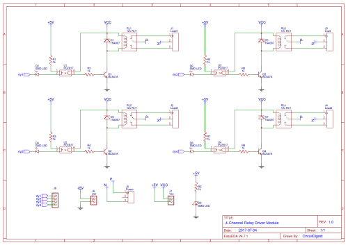 small resolution of 4 channel relay driver module circuit