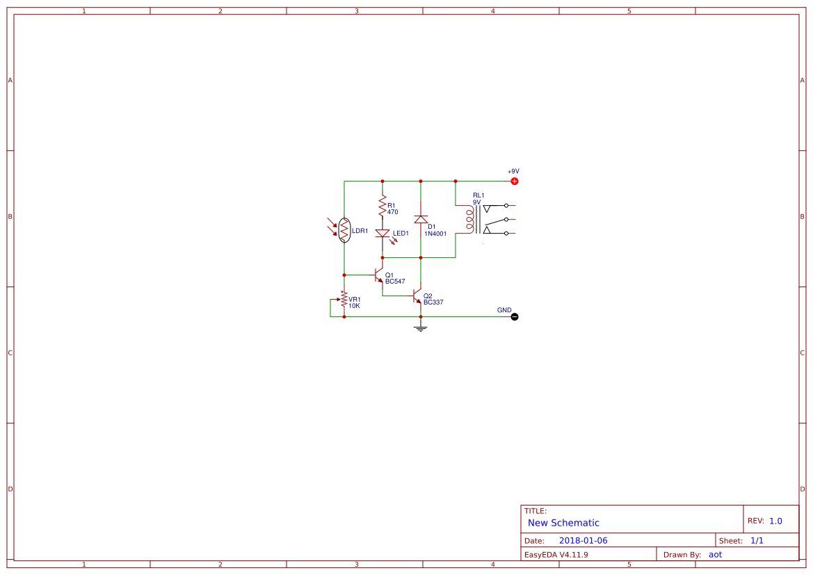 hight resolution of light activated relay circuit using bc547 bc337 easyeda the circuit diagram of light relay switch by bc547 and bc337