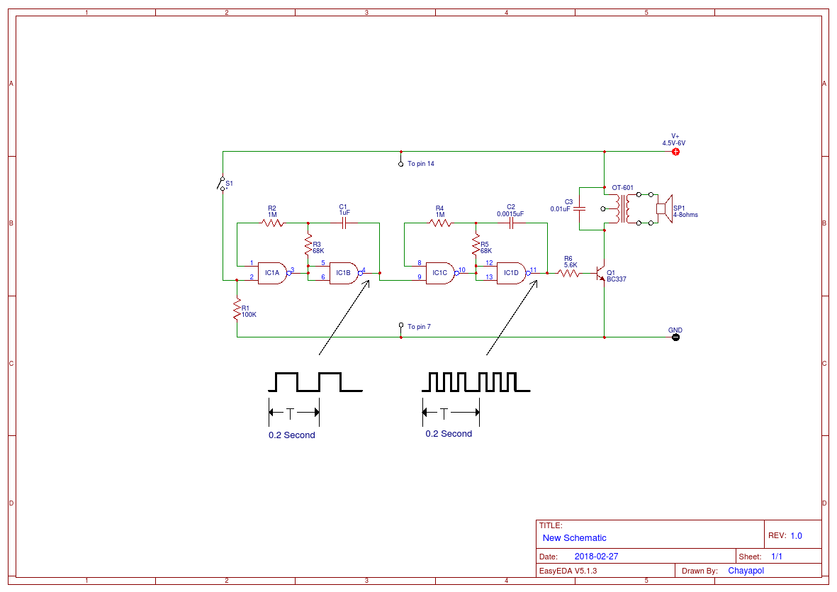 hight resolution of simple electronic clock sound using ic4011