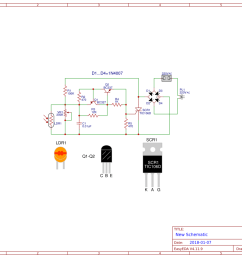 automatic night light circuit using scr easyeda lamp scr schematic [ 1169 x 827 Pixel ]