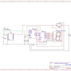 Decade Counter Circuit Diagram Using 7490 Wiring For Wall Lights 6w White Light Double Cob Led Switch Night 4 Bit Bcd With 7414 Oscillator Easyeda